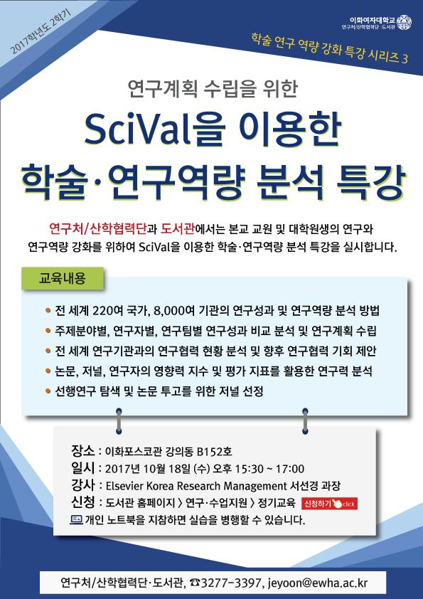 SciVal을 이용한 학술·연구역량분석 특강